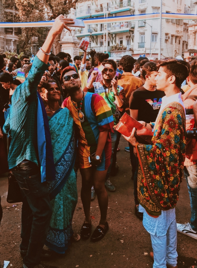 People of all ages, genders, sexualities and professions came together to march on 3 February in Mumbai for the Queer Azadi March.