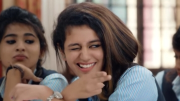 Priya Varrier in the teaser of <i>Oru Aadar Love.</i>