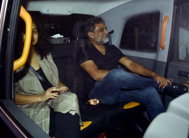 Filmmakers Gauri Shinde and R Balki at the screening of <i>PadMan.</i>