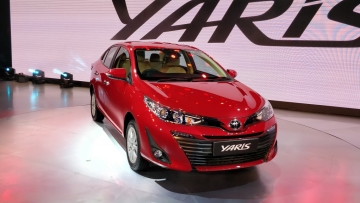 The Toyota Yaris was showcased at the Auto Expo 2018 in New Delhi.