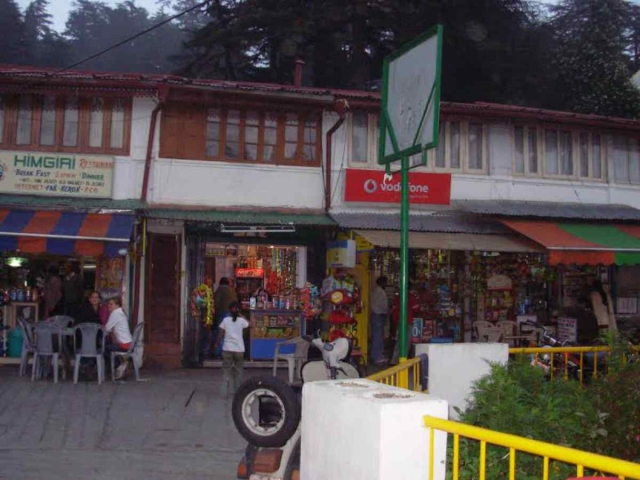 The bustling Mussoorie market, close to where Bond lives.
