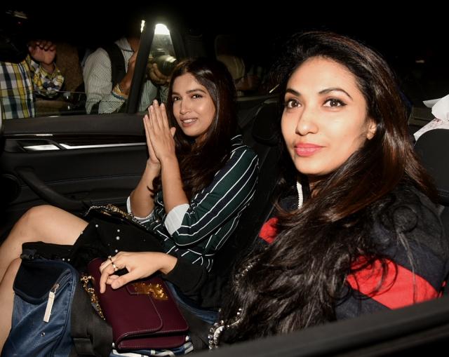 Bhumi Pednekar seen here with co-producer of <i>PadMan, </i>Prerna Arora.