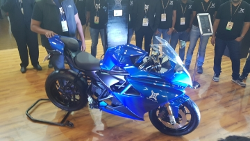 Emflux One unveiled at the Auto Expo 2018.