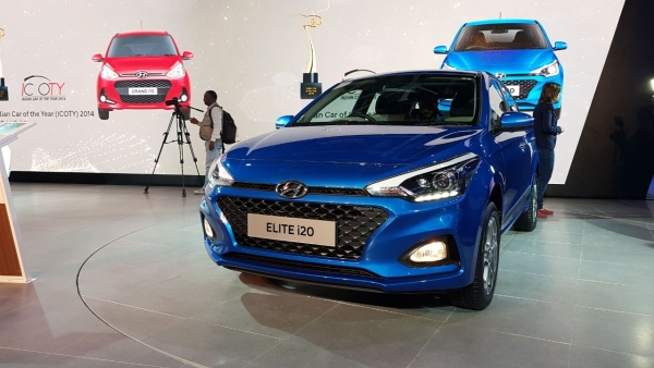 The facelifted Elite i20.