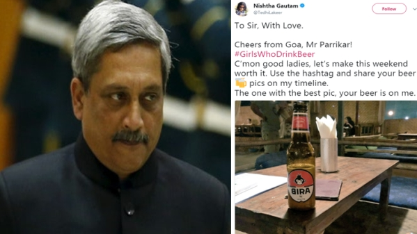 Goa Chief Minister Manohar Parrikar kicked up a storm with his comments about women drinking beer.