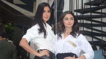Katrina Kaif and Alia Bhatt on the sets of <i>BFFs With Vogue</i>.
