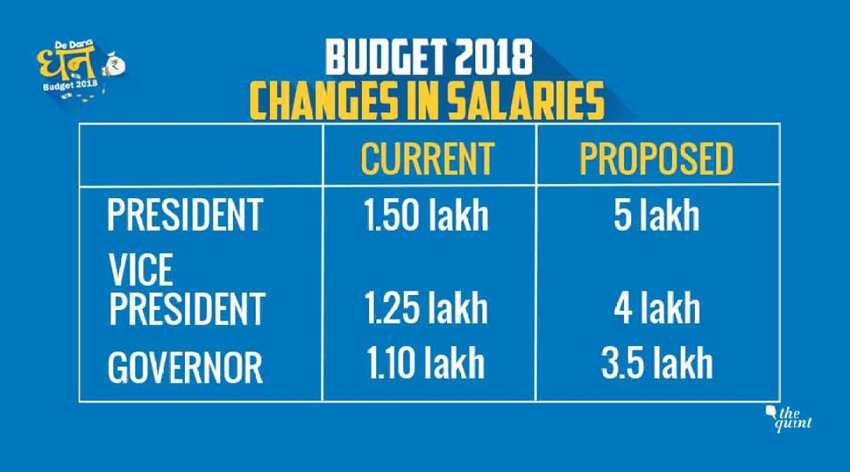 Budget 2018: Finance Minister Arun Jaitley Announces Salary