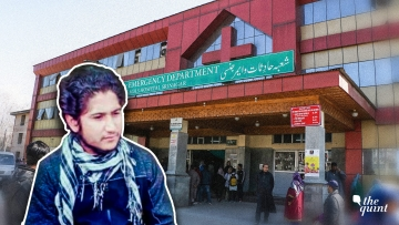 Image of LeT Commander Naveed and the SMHS Hospital in Srinagar used for representational purposes.