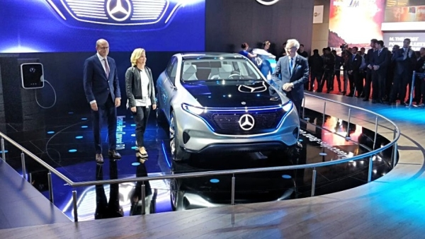 The Concept EQ is an electric car showcased by Mercedes Benz.