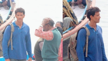Hrithik Roshan as Anand Kumar on the sets of <i>Super 30.</i>