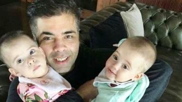 Karan Johar's twins turn one.