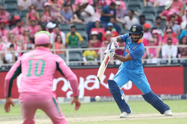 Shikhar Dhawan during India's fourth ODI against South Africa at Johannesburg.