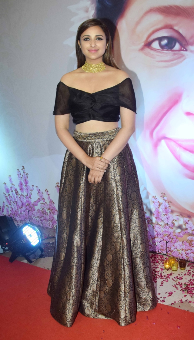Parineeti Chopra is prettily turned out for the event.