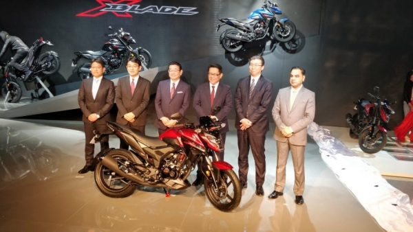 The Honda X Blade was launched at the Auto Expo 2018.