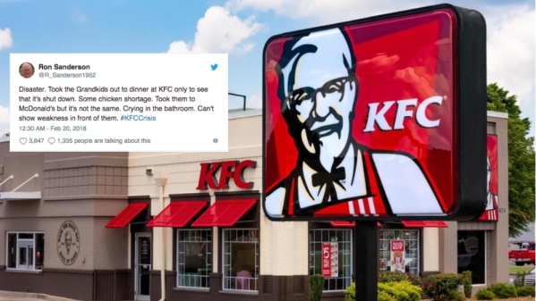 KFC Ran out of Chicken in the UK and Twitter Is Losing It!