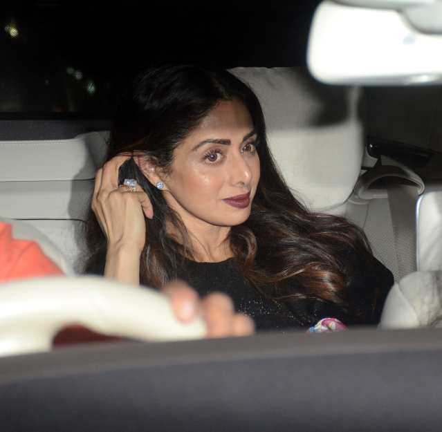 Sridevi, a close friend of filmmakers R Balki and Gauri Shinde, was at the screening.