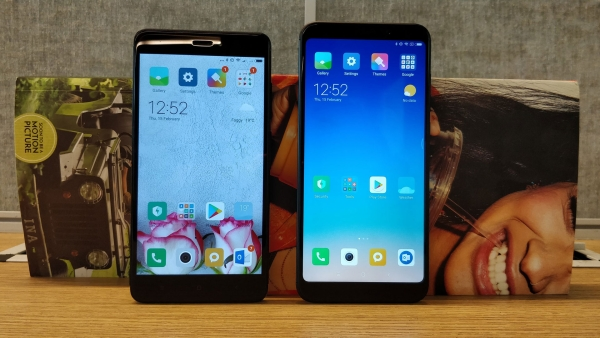 The Redmi Note 5(right) comes with a 18:9 screen ratio