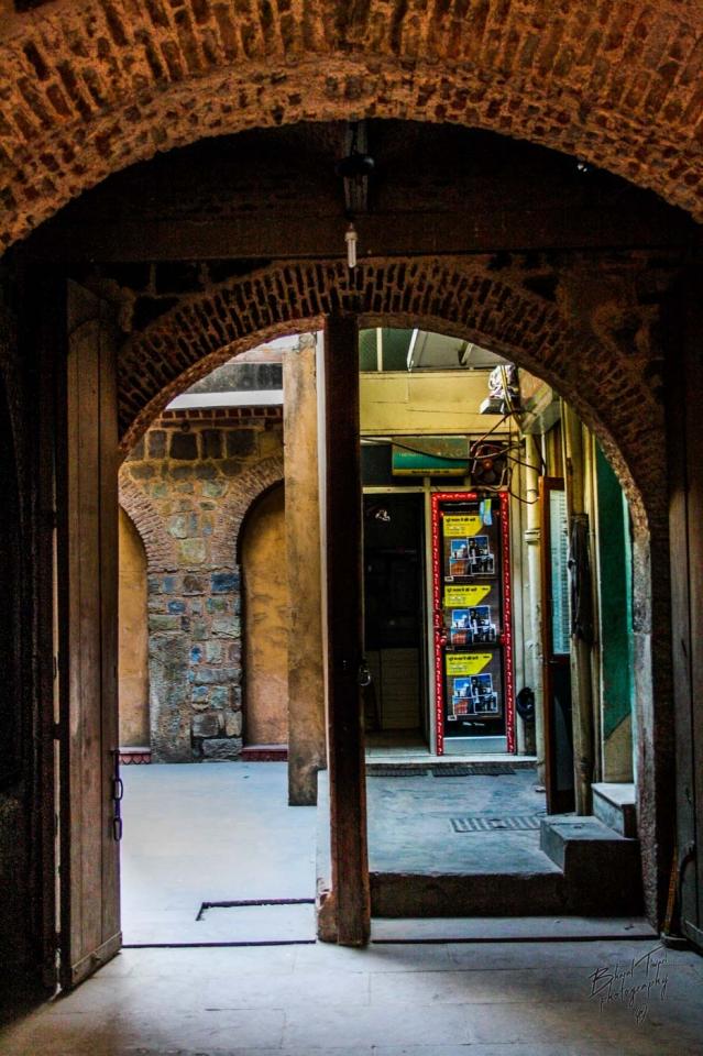 The doorway of the haveli.
