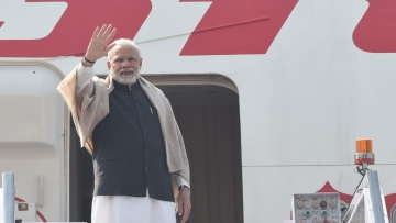 PM Narendra Modi embarks on his journey to Palestine, UAE and Oman.