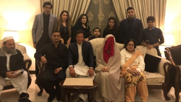 Imran Khan's new wife appearing in her wedding photos in full purdah sparked a debate among netizens.