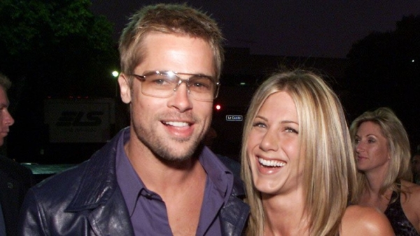 Jennifer Aniston and Brad Pitt in happier times.