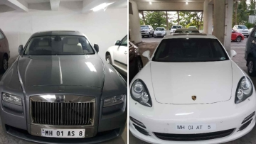 Cars seized by the Enforcement Directorate.