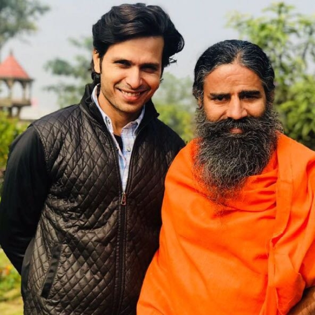 Kranti Prakash Jha with Baba Ramdev.