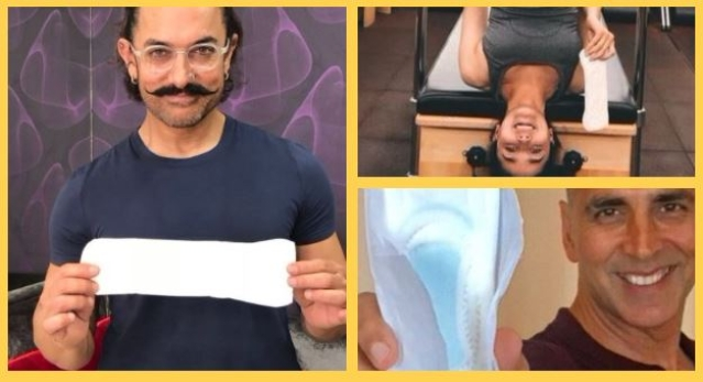 Celebrities take the #PadManChallenge online to spread awareness about menstrual hygiene.