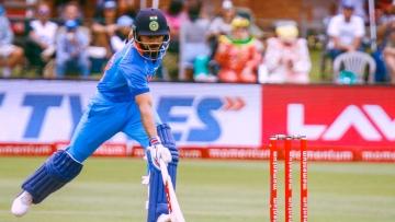 File photo of Virat Kohli trying to make the crease during an ODI.