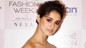 Disha Patani at the Lakme Fashion Week 2018.