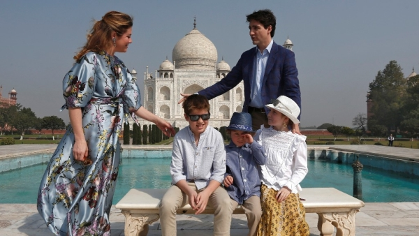 In Pics: Canadian PM Trudeau's Family Vacation Goals at Taj Mahal