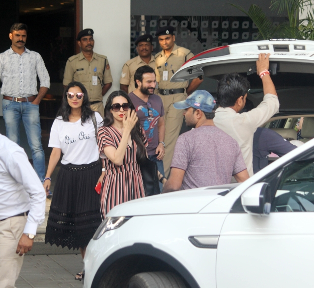 Saif Ali Khan looks happy to be back after two nights of revelry in Goa.