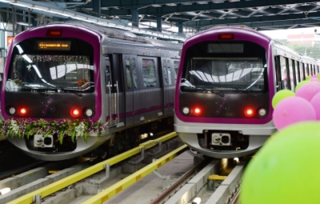 Bengaluru Metro. (Photo: IANS)
