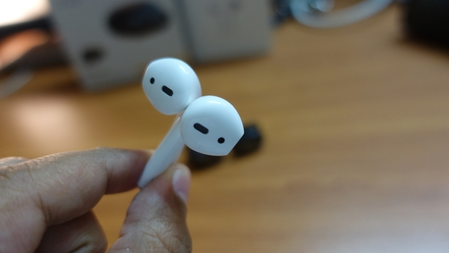 AirPods are just the wireless version of Apple's wired earphones.