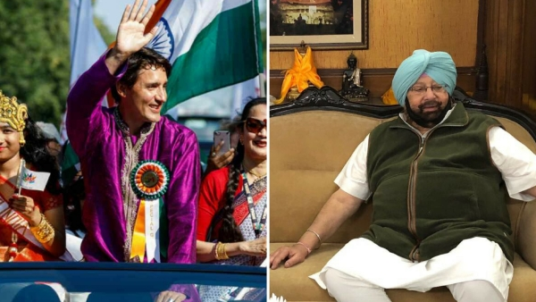 Canadian Prime Minister Justin Trudeau(Left) and  Punjab Chief Minister Amarinder Singh(Right)