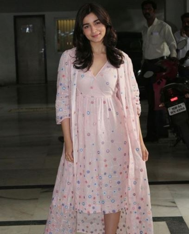 Alia Bhatt at the party.