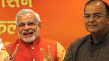 Prime Minister Narendra Modi along with Finance Minister Arun Jaitley.