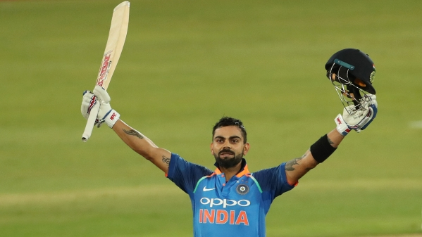 Virat Kohli scores his 35th ODI century during India's sixth and final one-dayer against South Africa on 16 February.