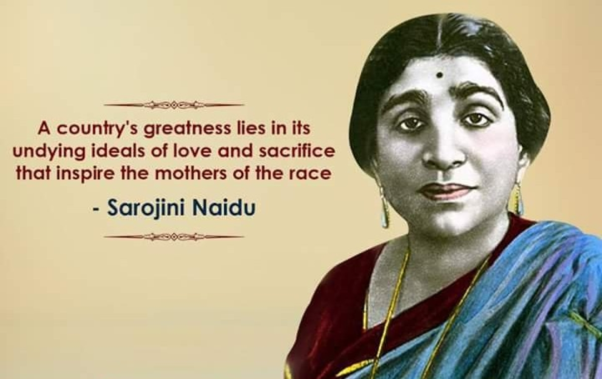 Sarojini Naidu was a celebrated poet, along with being an instrumental part of the Independence movement.