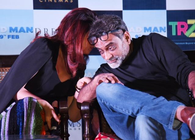 Twinkle Khanna and R Balki, director of <i>PadMan</i>.