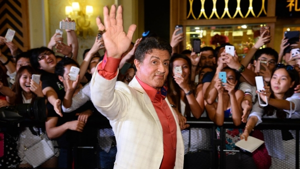 Actor Sylvester Stallone during the movie <i>The Expendables 3</i> special screenings and red carpet event at the Venetian Macao in Macau August 22, 2014.