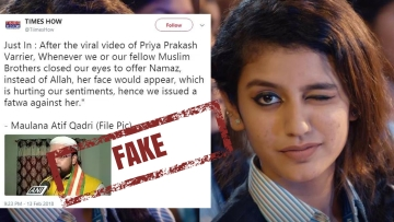 The 6 pm debate on the national news channel revolved around a parody tweet on Priya Prakash Varrier's viral song.