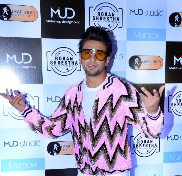 Ranveer Singh looking pretty in pink.