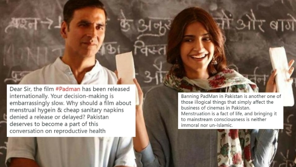 <i>PadMan</i> banned in Pakistan.