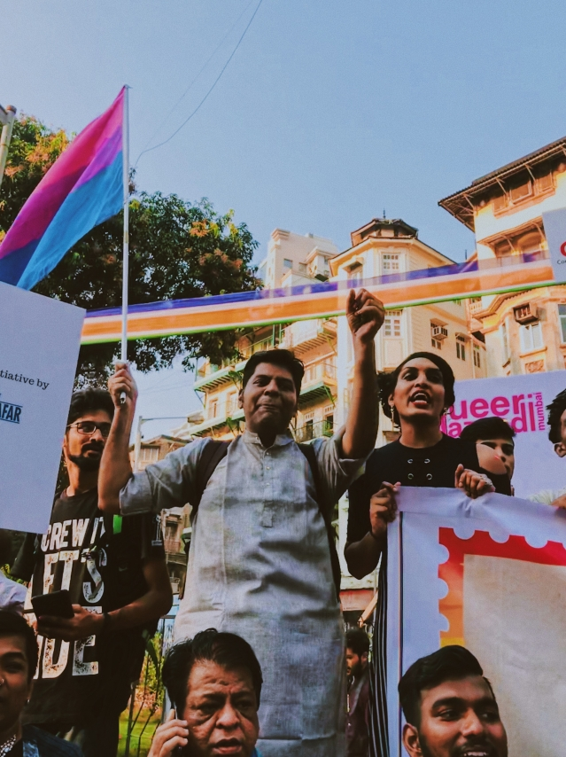 Faces and expressions from Mumbai's Pride March 2018.