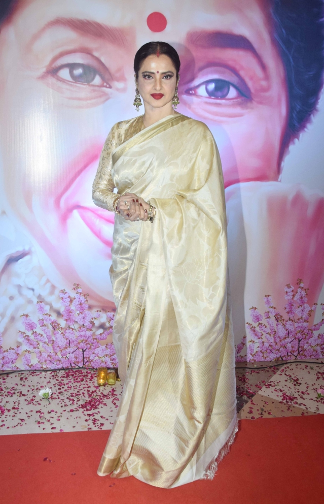 Rekha is as lovely as ever.