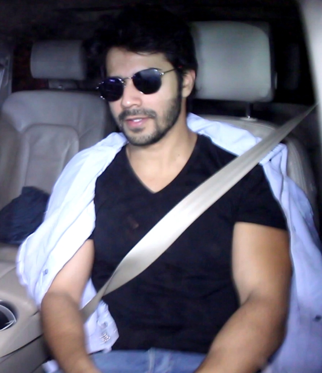 Varun Dhawan also came for the party.