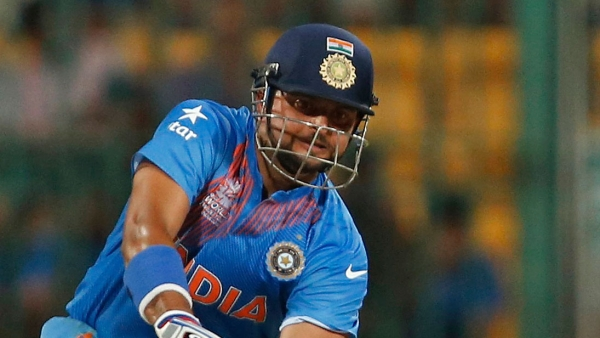 Suresh Raina plays a shot during the World T20.