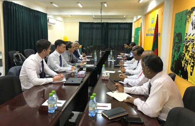 The EU delegation met the Maldivian opposition on 8 February