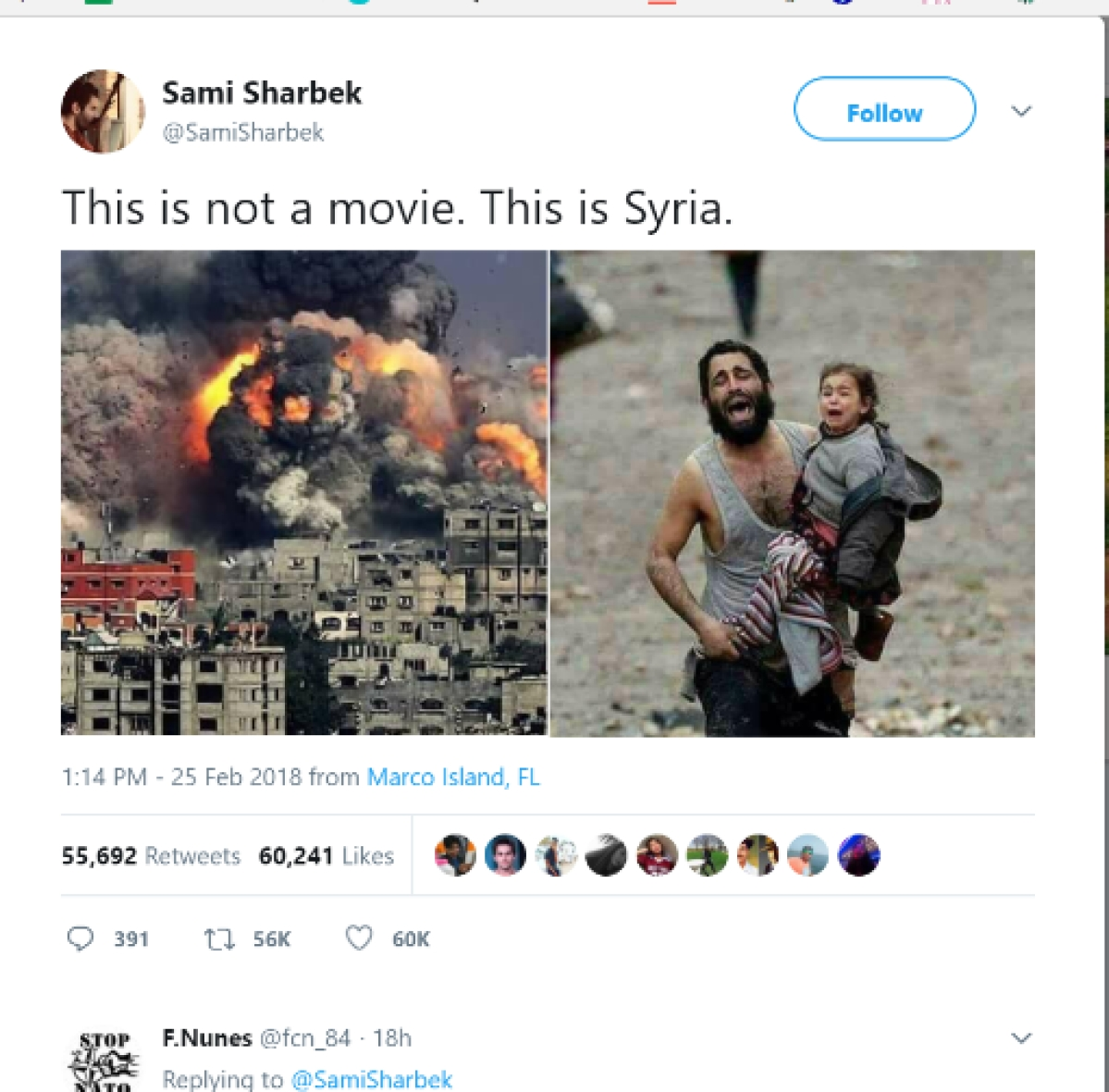Fake viral images posted to show war-torn Syria.